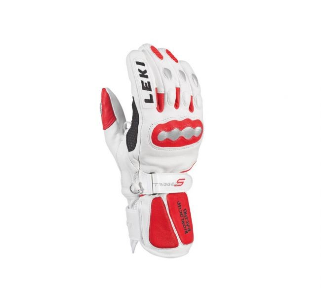 Leki gloves WC Racing GS -TRS - white/red (6.5)