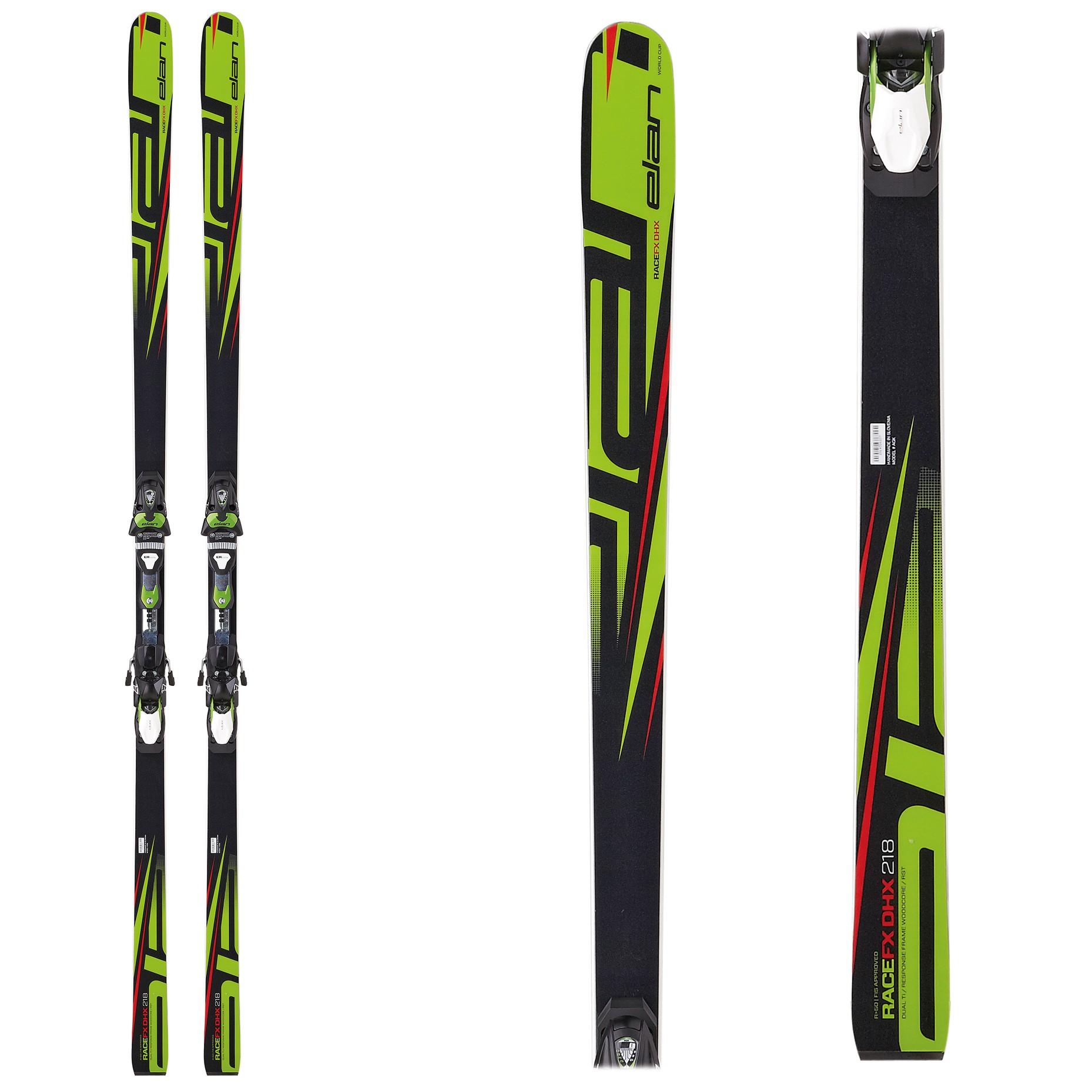 Elan FX DHX plate, FIS downhill skis, 2017