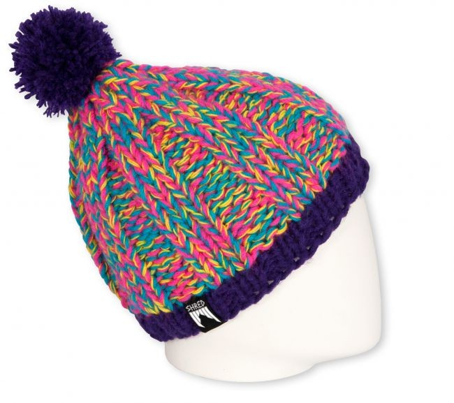 shred beanie marble purple