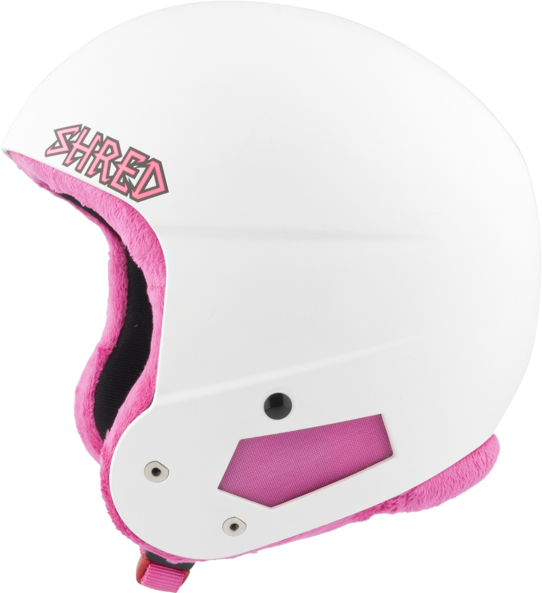 Shred Brain Bucket Mini WHITE PINK ski helmet, 2017