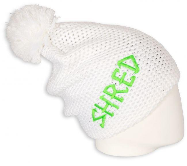 pletena smučarska kapa shred  bela