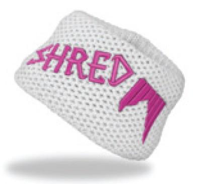 shred heavy knitted headband white