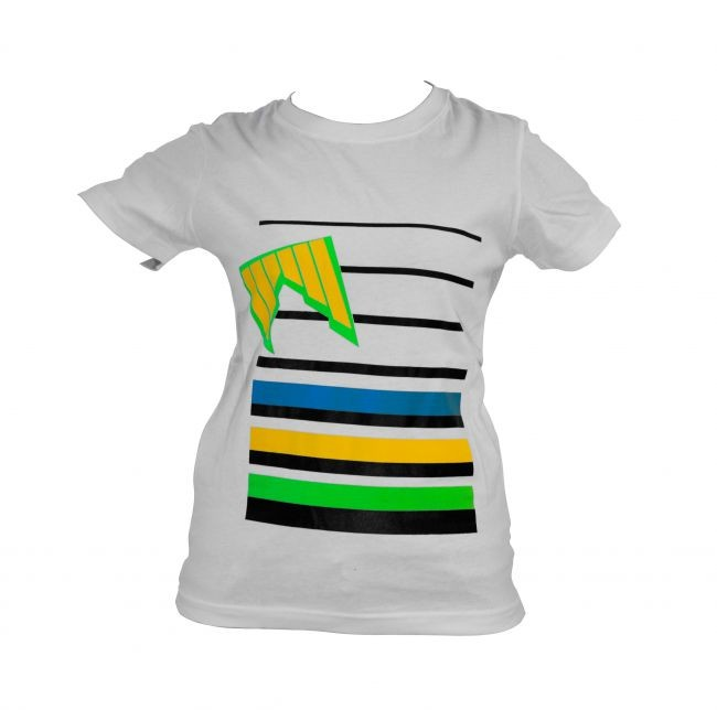 Shred majica lines white