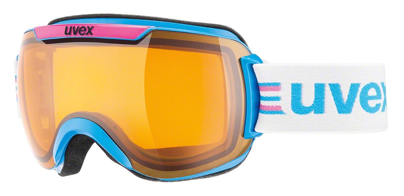 Uvex Downhill 2000 Race cyan/pink ski goggles