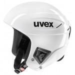 Uvex race + FIS ski helmet, 2017, all white