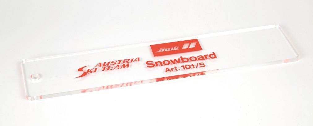 Snoli snowboard wax scraper