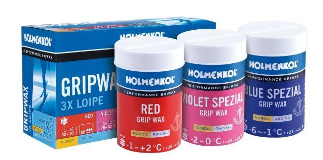 3 x LOIPE Holmenkol Grip WAX