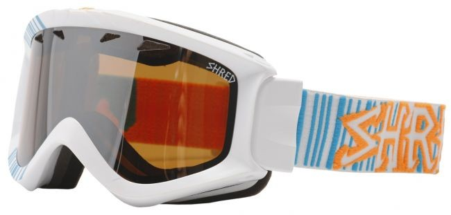Shred YONI googles - Barcode (white/blue)