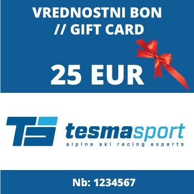 Tesma sport gift voucher for 25 Eur