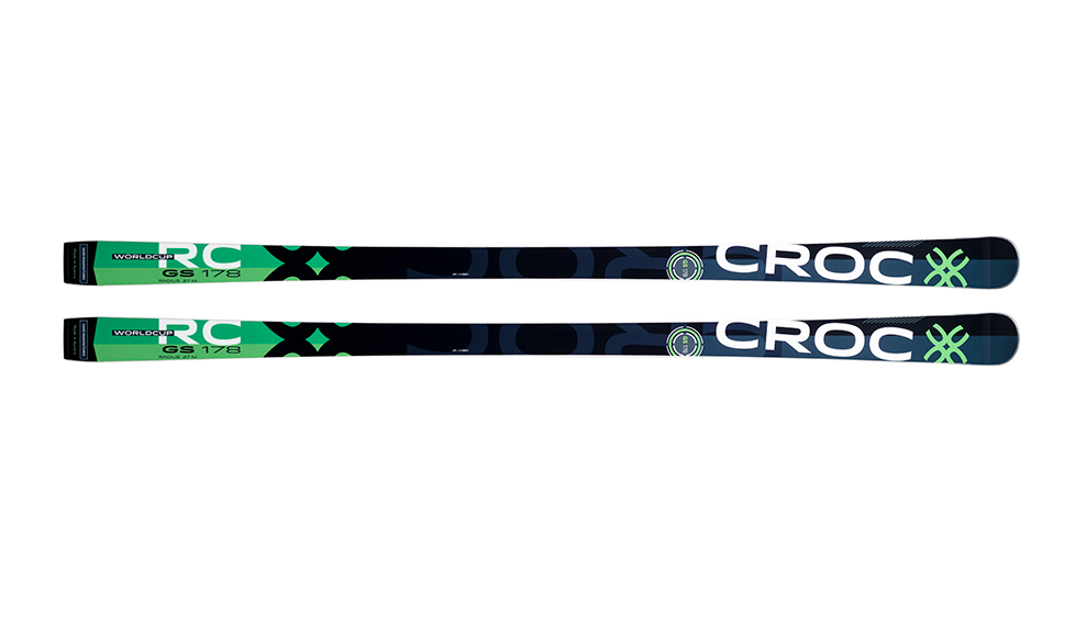 Croc GS WJC FIS skis w/plate and binding, 178 cm