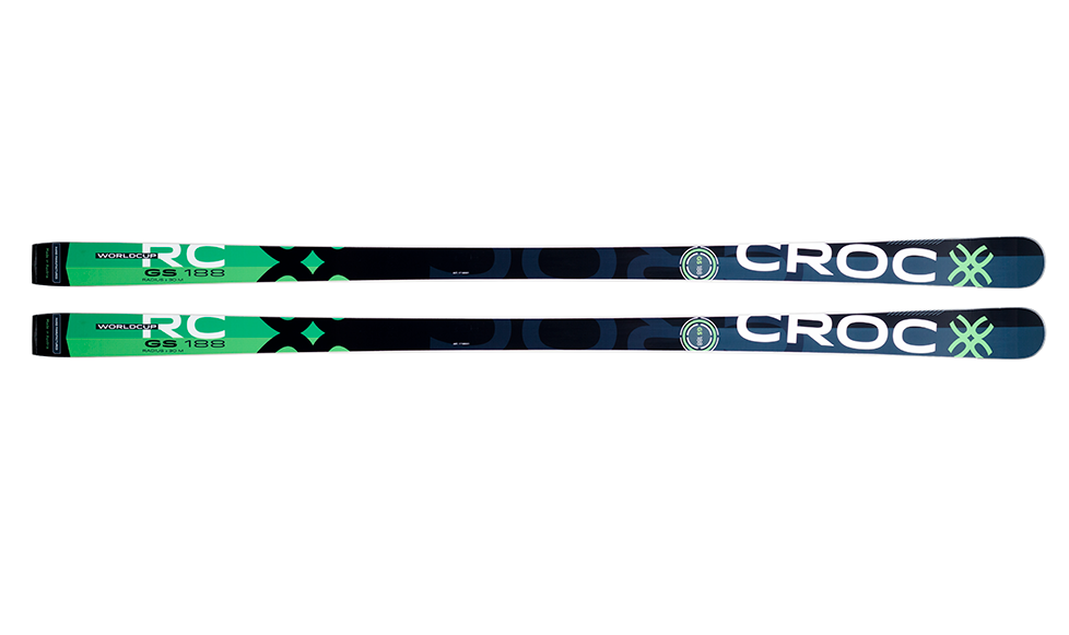Croc GS WC FIS skis w/plate and binding