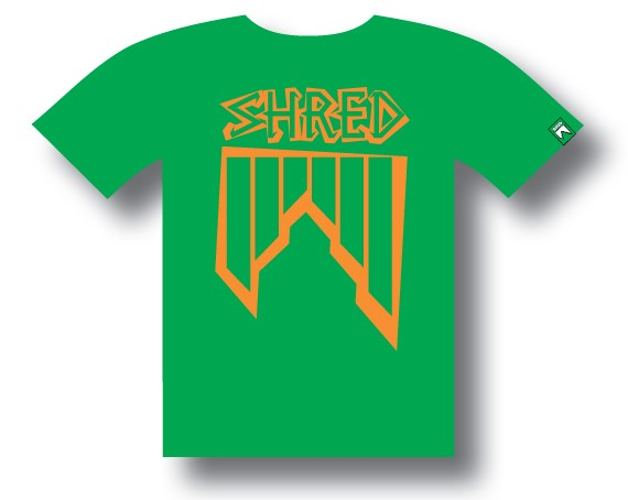 T-shirt Shred CROOKED - Green