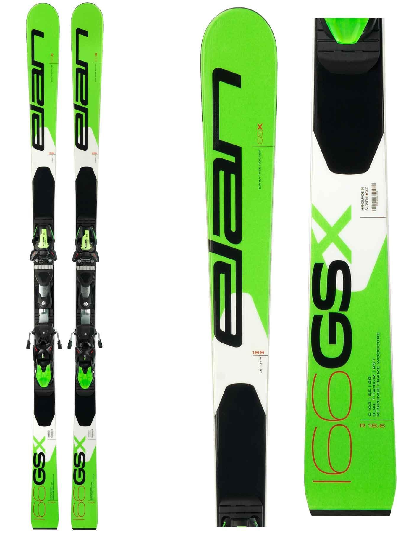 Elan GSX team Plate, junior skis for GS, 2019