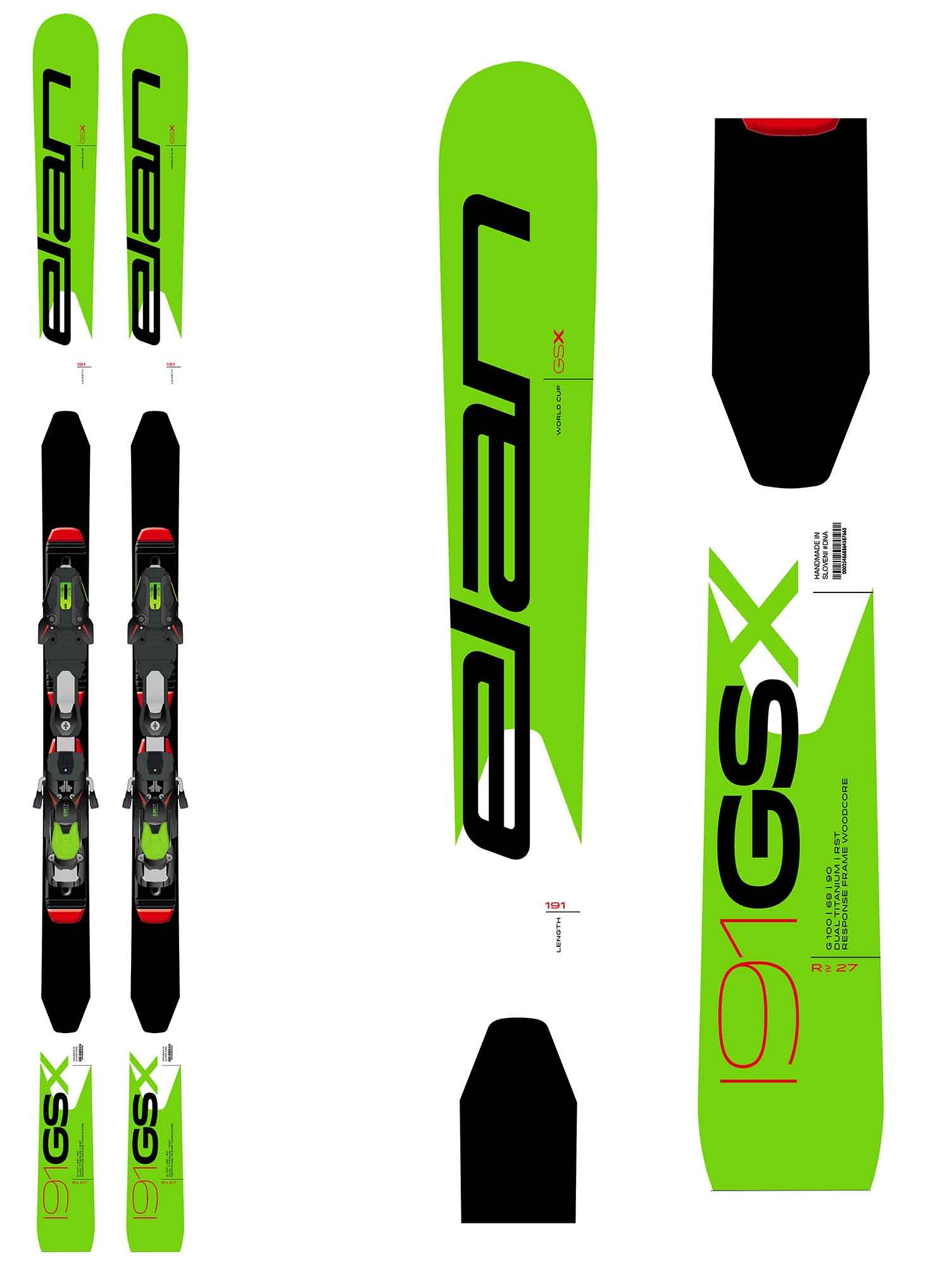 Elan GSX World Cup X Plate - for Ski Cross, Masters, 2019