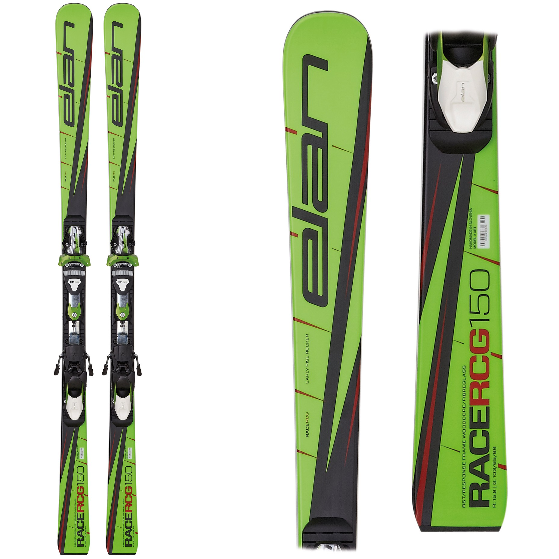 Elan RCG Plate, junior skis for GS, 2017