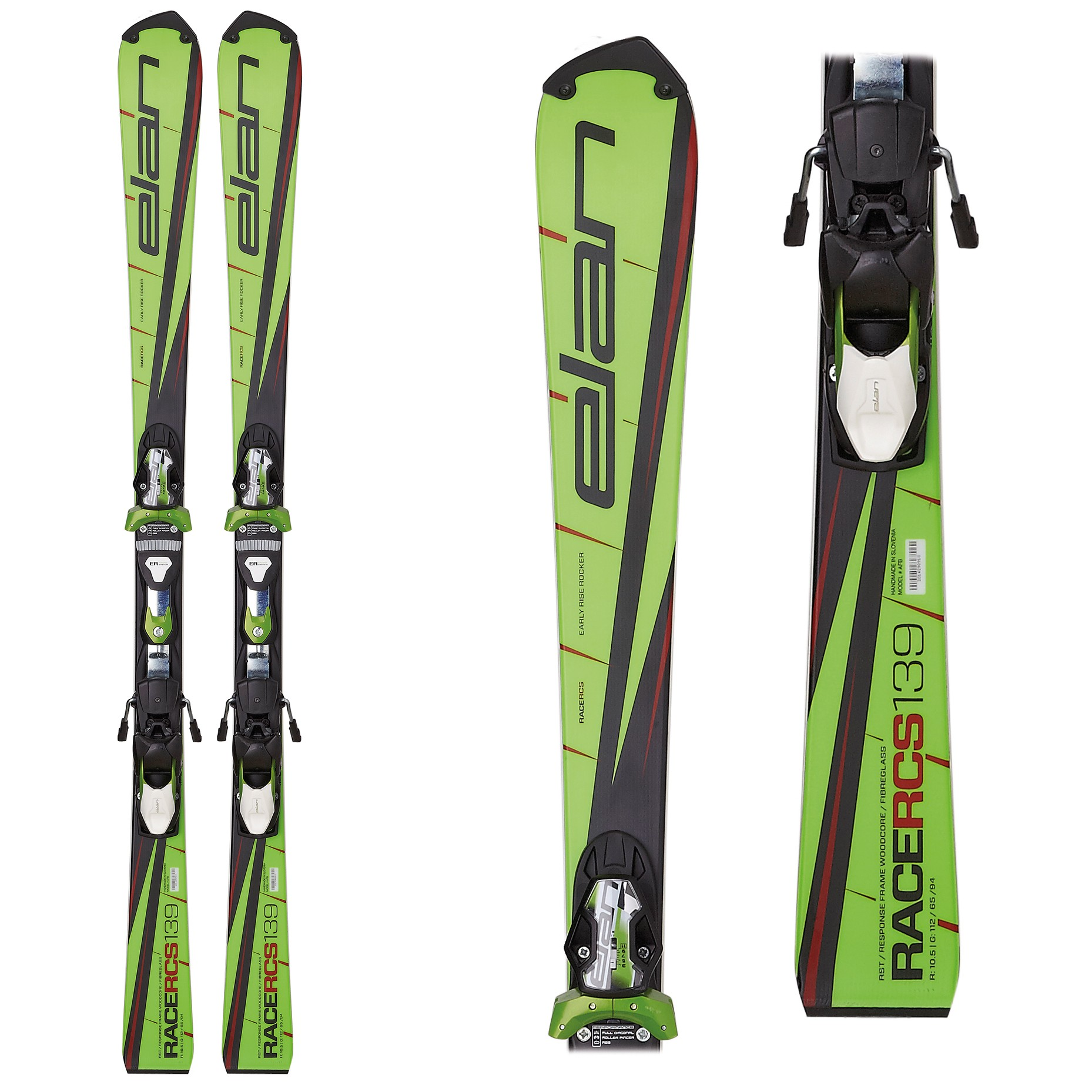 Elan RCS Plate - Slalom Junior Skis, 2017