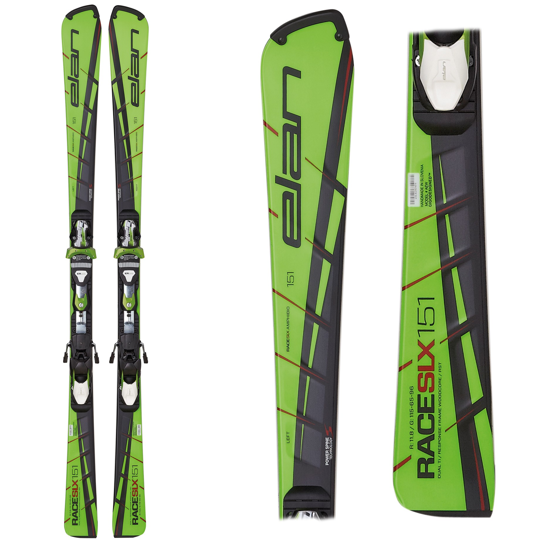 Elan SLX Team Plate - Slalom Junior Skis, 2017