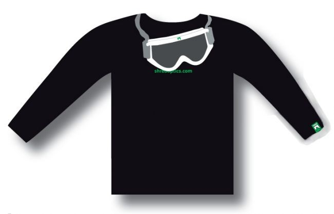 T-shirt Shred GOGGLE - black