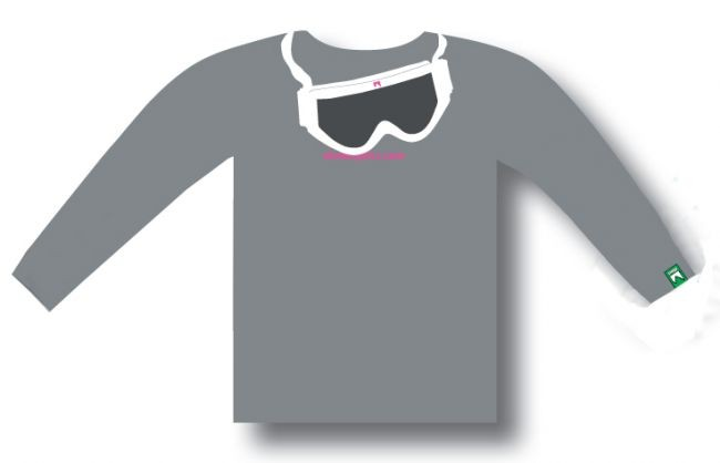 T-shirt Shred GOGGLE - gray