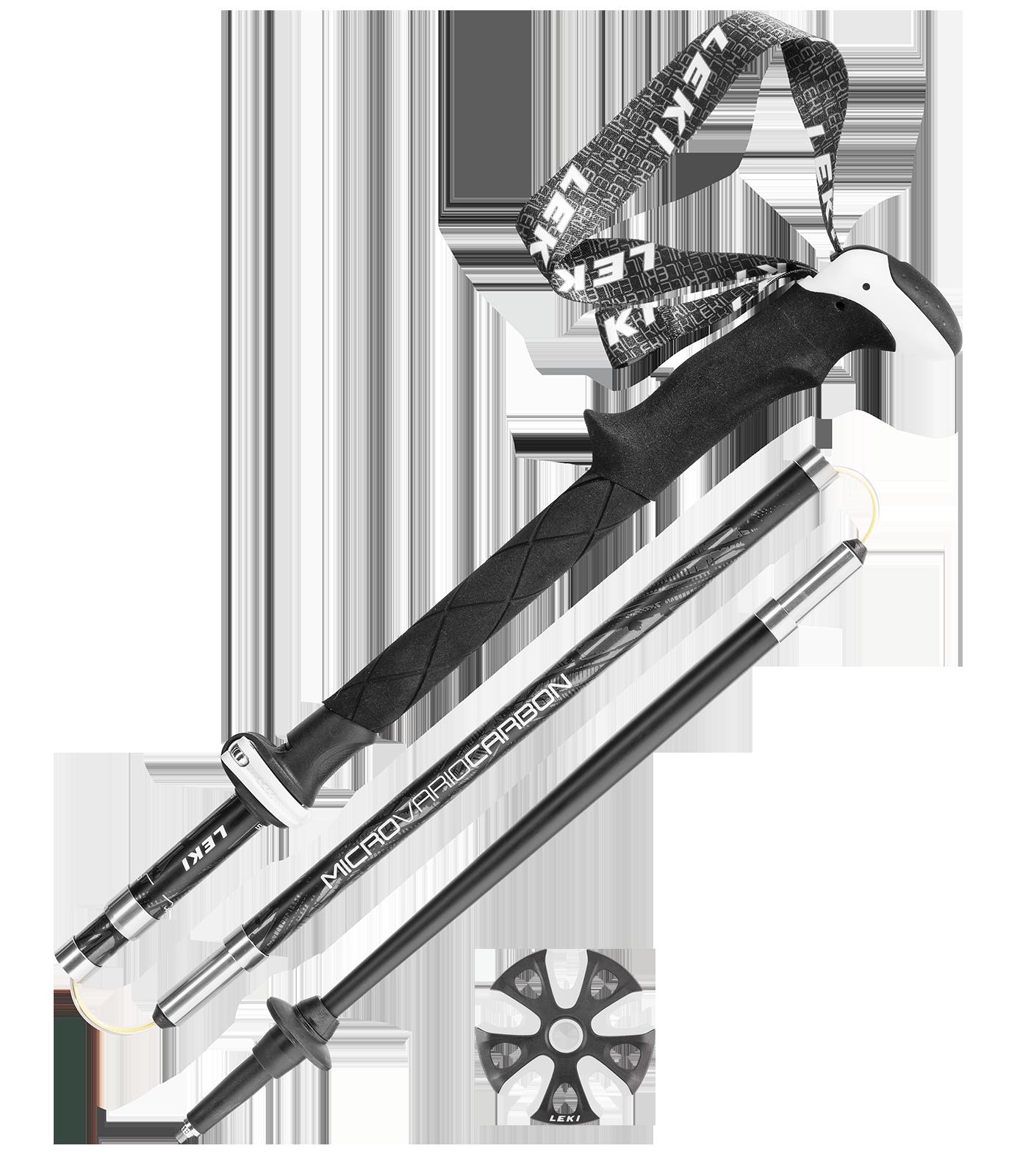 Leki Micro Vario Carbon strong ski poles, 2017