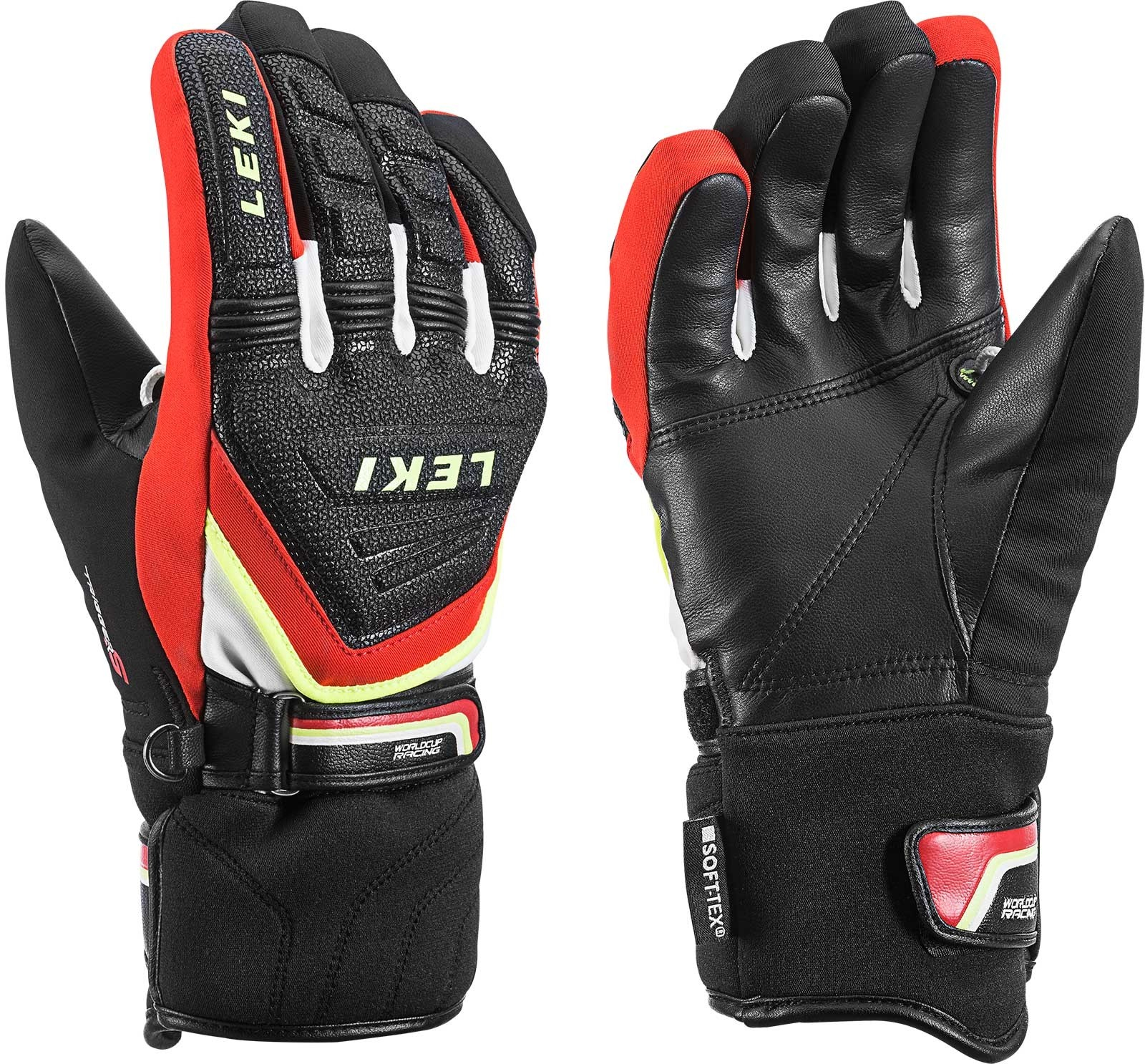 Leki Race Coach C-tech S junior ski gloves, 2018