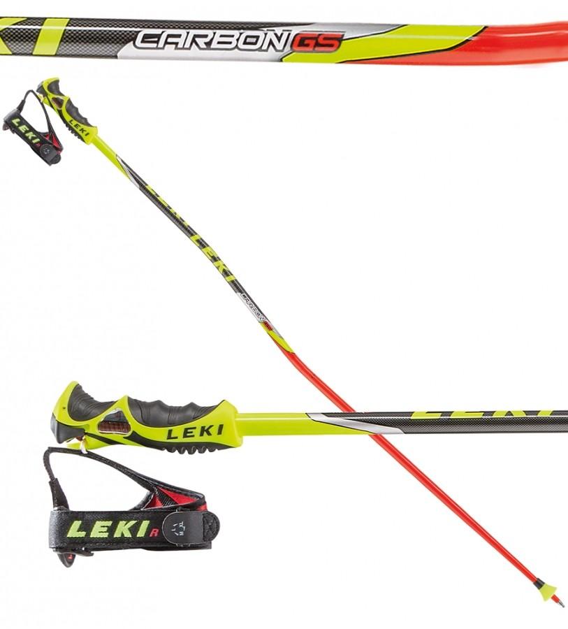 Leki Titanium Carbon GS TR-S, WC racing ski poles