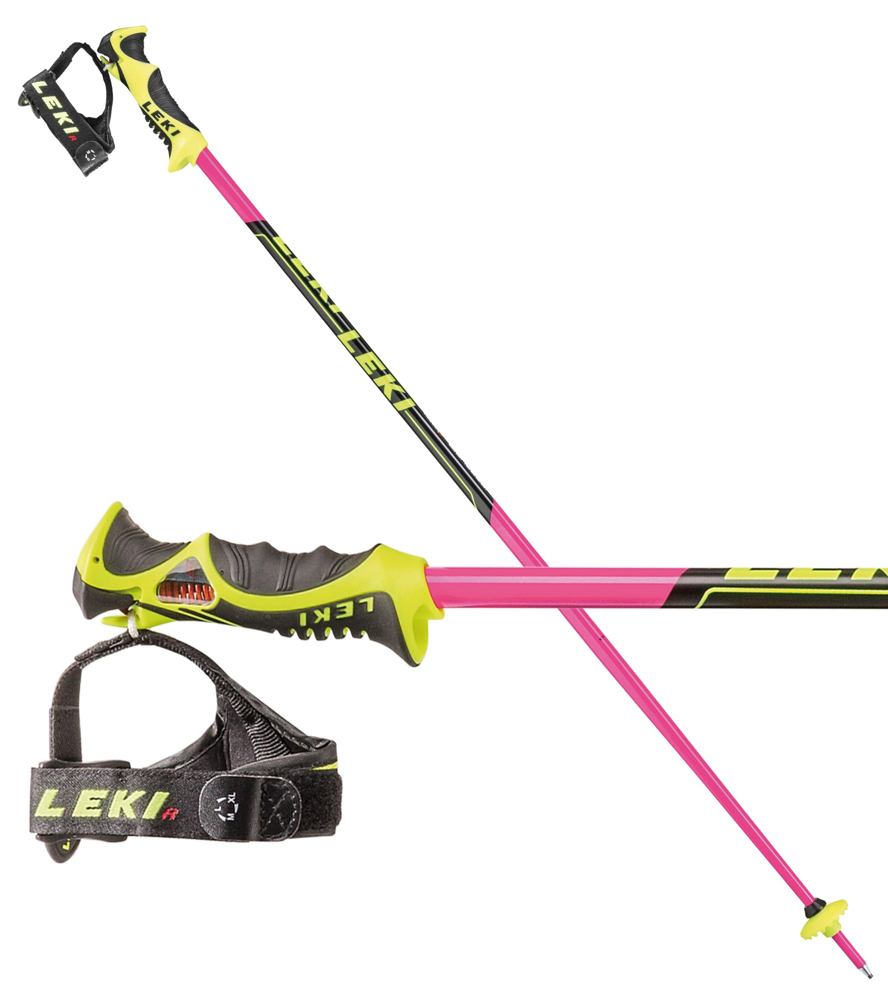 Leki WC Lite SL TR-S junior slalom poles - pink, 2018