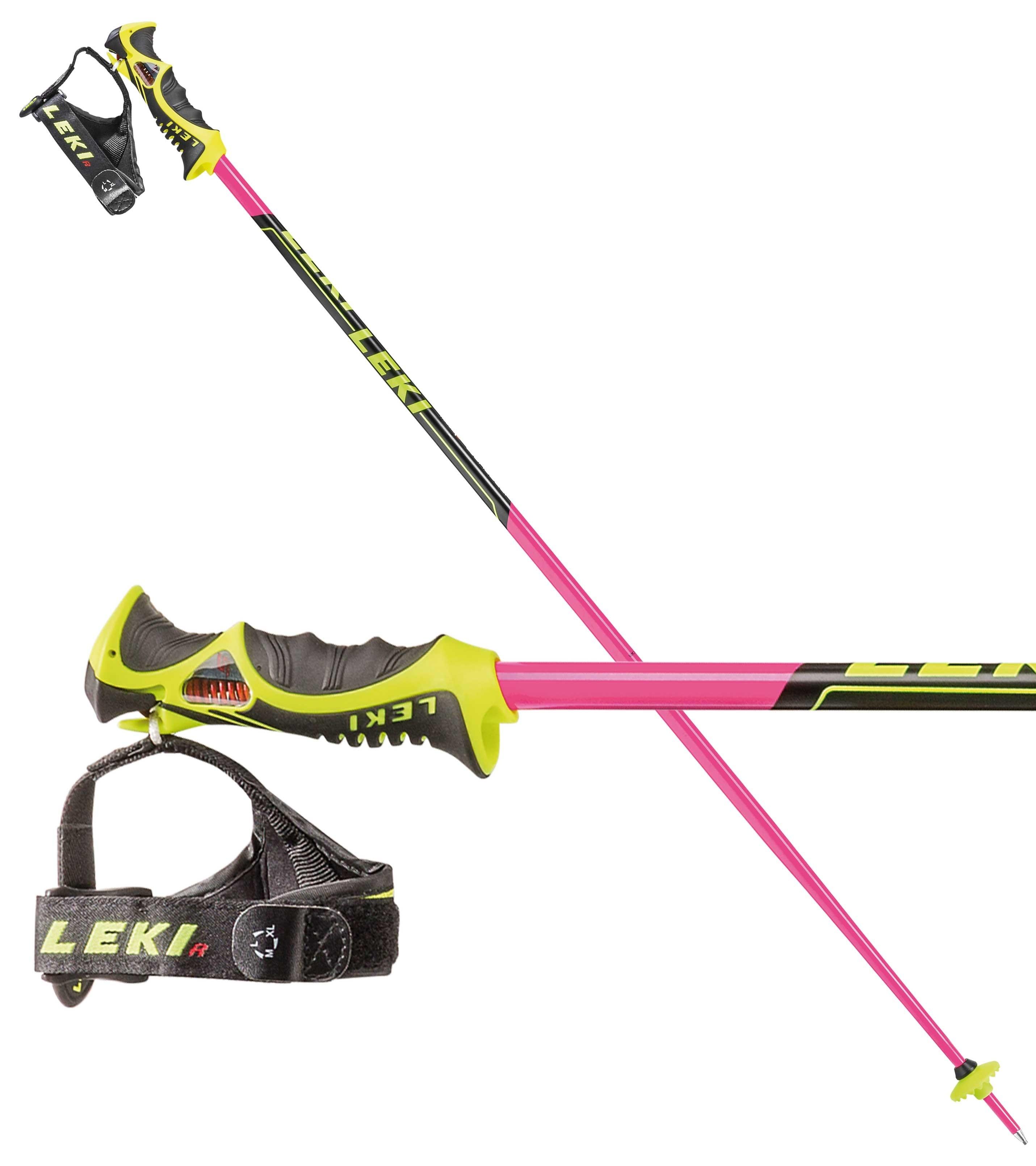 Leki WorldCup Racing SL TR-S TBS ski poles - pink, 2018