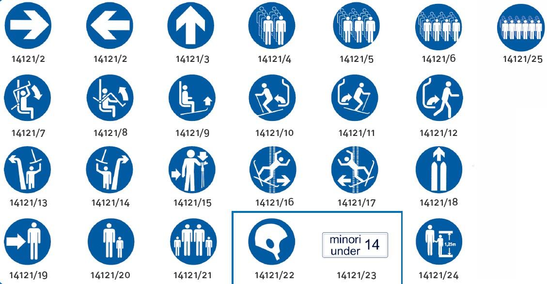 Liski mandatory signes, Ø42cm