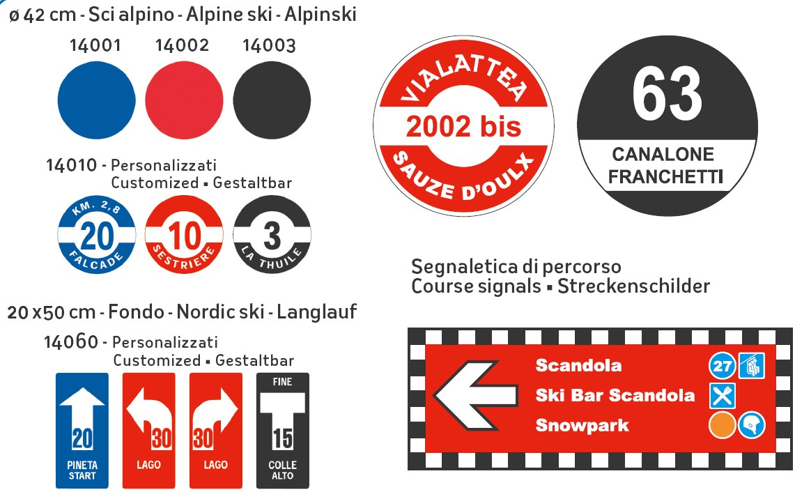 Liski ski slope classification signs
