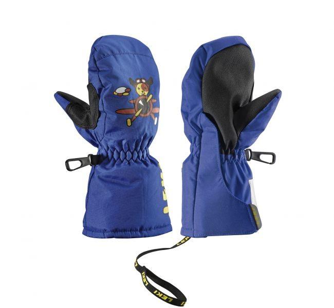 Otroške smučarske rokavice Leki pilot modre