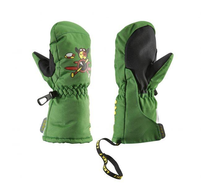 Otroške smučarske rokavice Leki pilot zelene