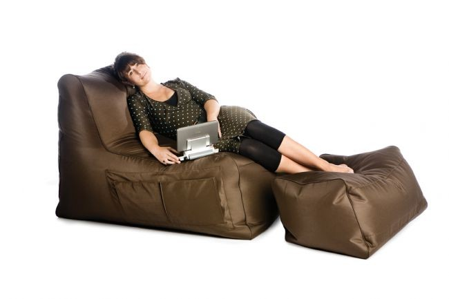 bean bag sit on it r lax twill chocolat brown. Black Bedroom Furniture Sets. Home Design Ideas