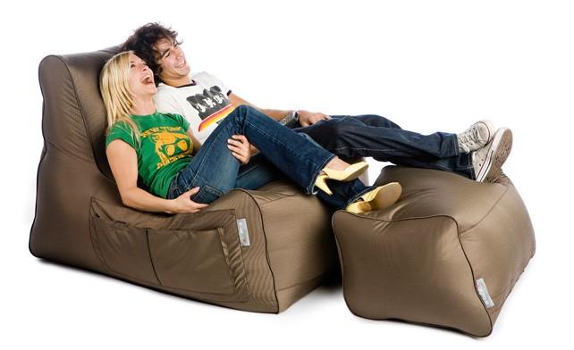 sedežna vreča počivalnik sit on it rjava