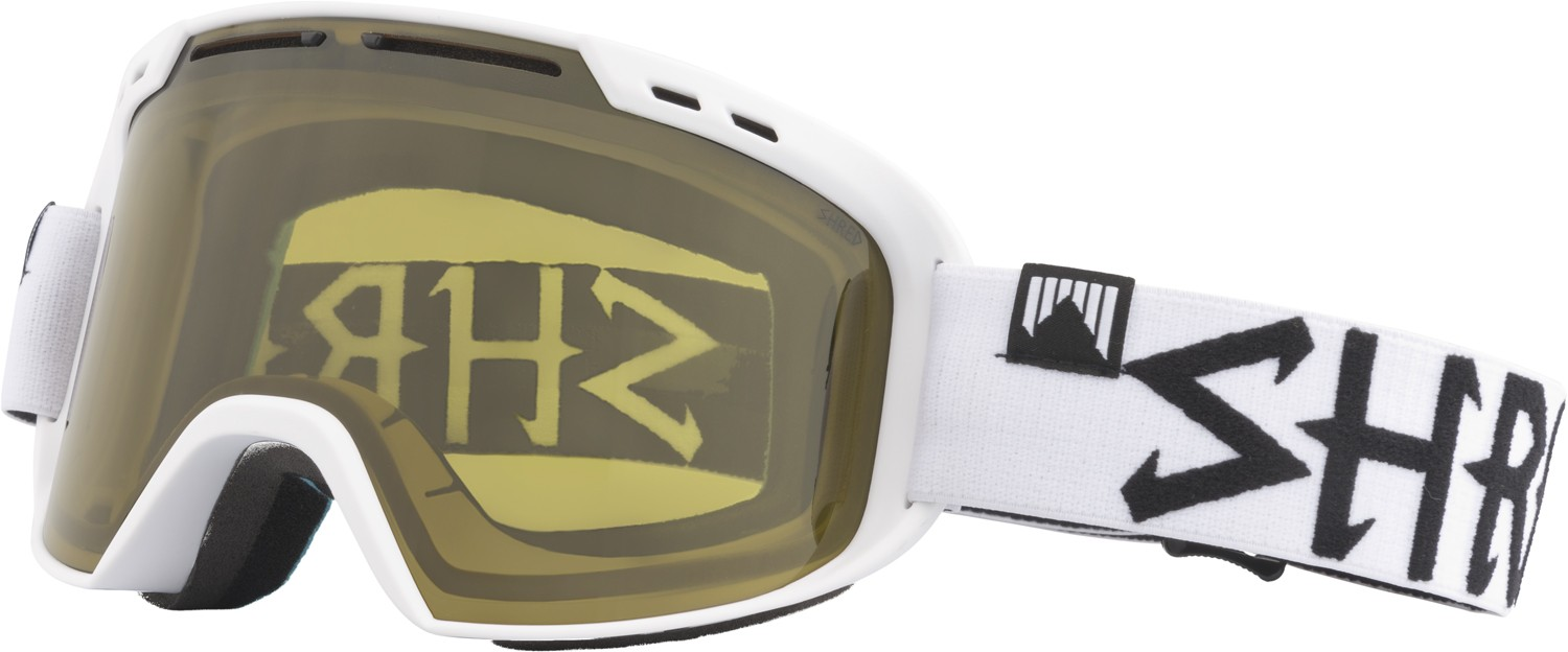 Shred Amazify WHITEOUT CBL green goggles, 2017