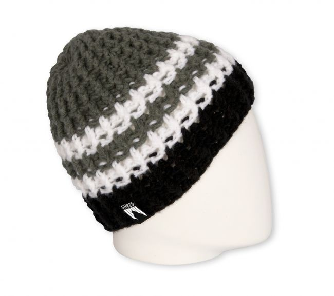 shred beanie stripes black