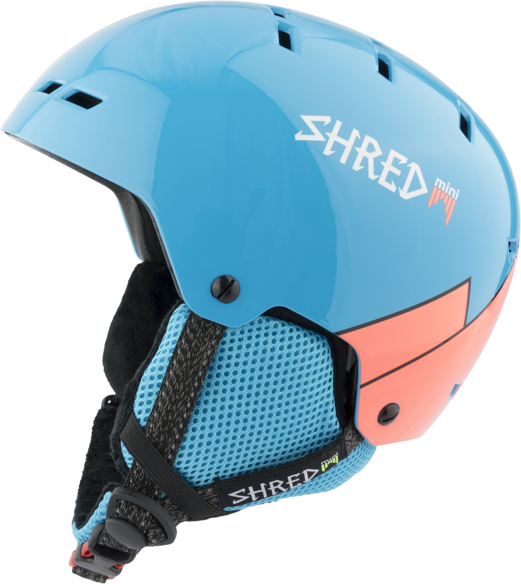 Shred BUMPER warm MINI WEE BLUE/RUST ski helmet, 2017