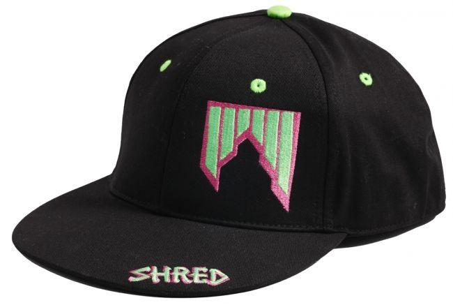 Shred čepica s šildom logo črna zelena