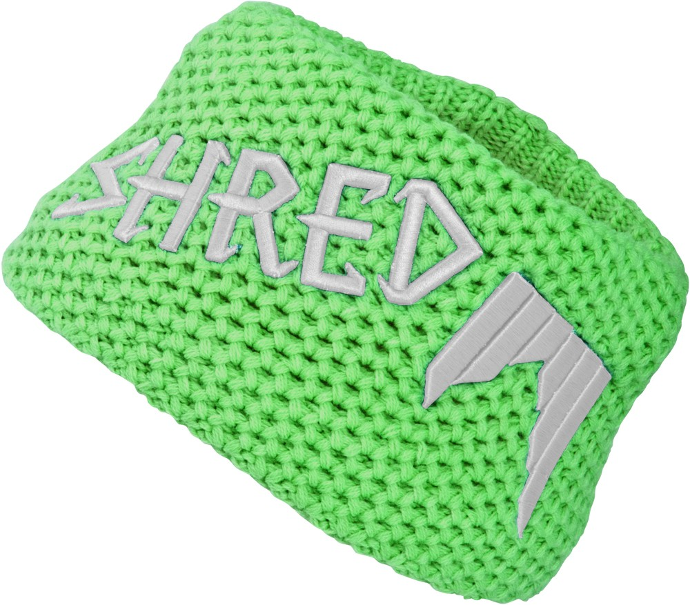 Shred Heavy knitted headband - green