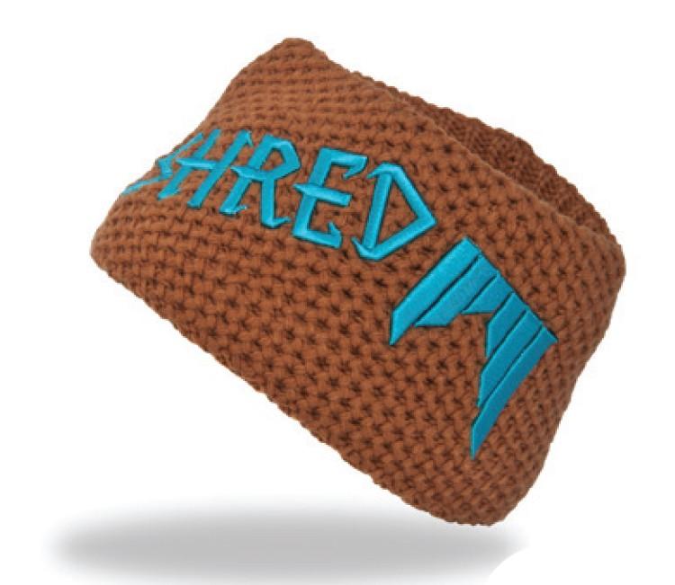 shred heavy knitted headband brown