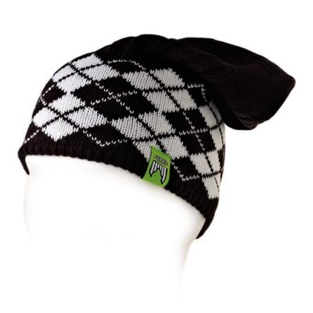 Shred smučarska pletena kapa redux črna bela