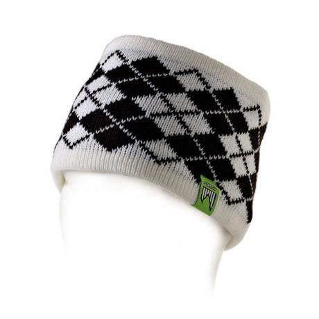 Shred smučarski naglavni trak redux beli črni