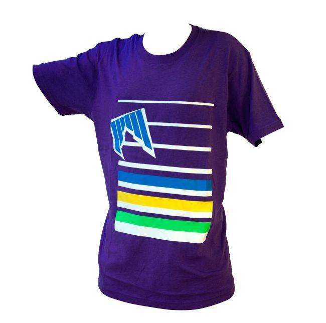 Shred majica lines vijolična