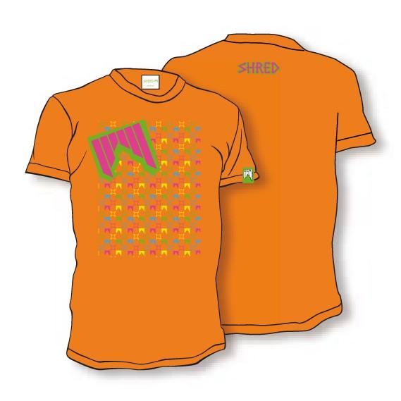 Shred majica t-shirt liget orange