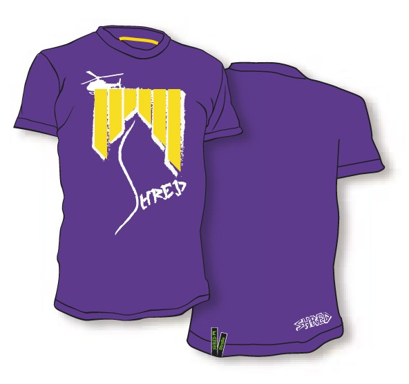 Shred majica tshirt heli ash purple