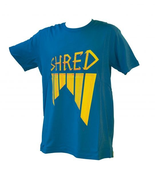 Shred majica wireframe blue