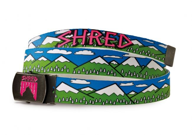 Shred pas belt needmoresnow green blue