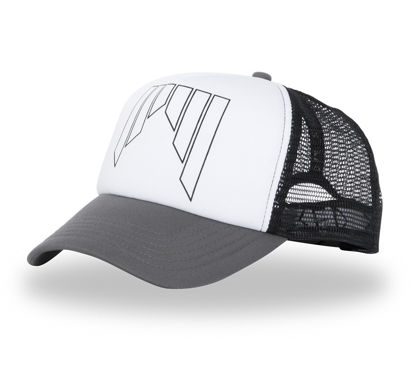 Shred Trucker Cap - black/white