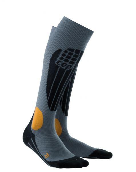CEP Skiing O2 Compression Socks - gray