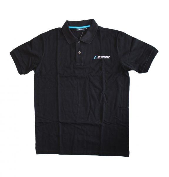 polo kratka majica slytech piquet črna